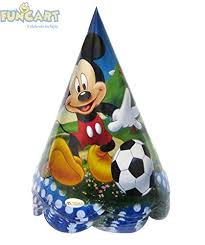 Buy Funcart <b>Mickey</b> Mouse Paper Cone Cap, (<b>10pcs</b>/Pack) Online at ...