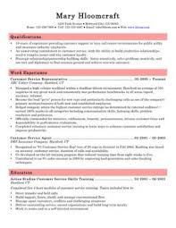 customer service resume  skills  objectives   templatescall center customer service representative