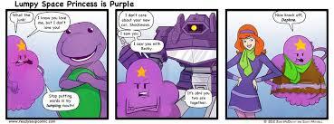 Lumpy Space Princess is Purple by JohnMcDevitt on DeviantArt via Relatably.com