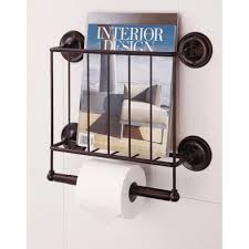 magazine rack wall mount: w wall mount magazine rack with toilet paper holder