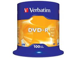 Купить Оптический <b>диск DVD</b>-<b>R Verbatim</b> 4.7 Gb, <b>16x</b>, Cake Box ...