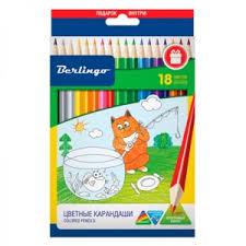 <b>Набор</b> цветных карандашей <b>Berlingo</b> «Жил-был Кот» 18цв ...