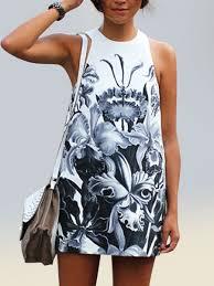 <b>Beach Dress</b> For Women Floral <b>Summer Dress</b> Printed <b>Sleeveless</b> ...
