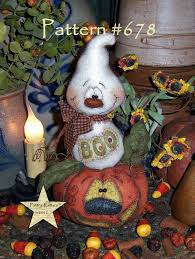 Dolls & Bears Patti's Ratties Primitive <b>Halloween Pumpkin Witch</b> ...
