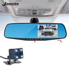 <b>Jansite Car Camera</b> Rearview Mirror <b>Car Dvr Dual</b> Lens <b>Dash Cam</b> ...