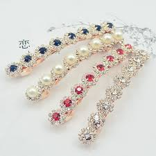 New Arrival Women Lady <b>Fashion Crystal Hairpin</b> Faux Pearl ...