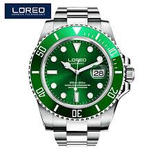 LOREO <b>Mens Watches Top</b> Brand Luxury Diver 200M Automatic ...