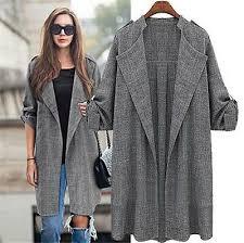 <b>New Elegant</b> Women Long Trench Coat <b>Autumn Winter</b> Fashion ...