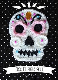 Crochet <b>Sugar Skull</b> - Free <b>Pattern</b> - Persia Lou | Crochet skull ...