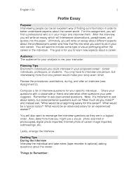 example of profile essay sample resume for radiologic technologist example interview essay personal narrative essay sample story profile essay examples 309722 example interview essayhtml