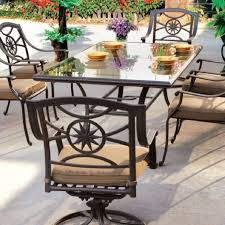 black wrought iron patio furniture with swivel patio chairs and rectangle patio table shaped black wrought iron patio furniture