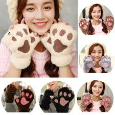 <b>Hot</b> 2017 <b>Winter</b> Keep <b>warm</b> Lovely Women Bear Cat Claw Paw ...