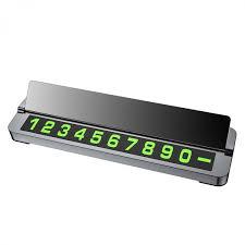 <b>Табличка с номером телефона</b> для автомобиля Hoco PH21, черная