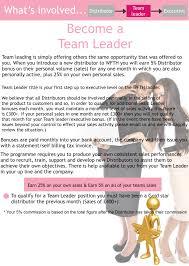 what s involved team leader team leader