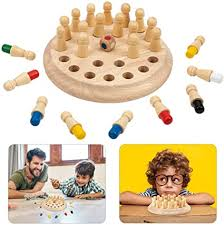 Games <b>Wooden Memory Match</b> Stick <b>Color</b> Memory Chess Children ...
