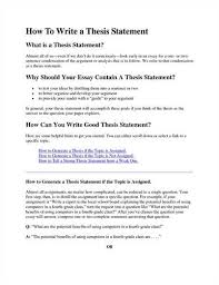 how to write a good thesis statement  ehow how to write a good thesis statement