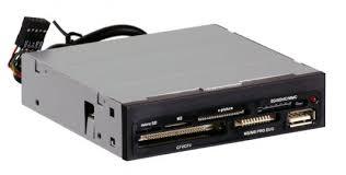 "Карт-ридер USB 2.0 internal 3.5"" Black + USB port, Ginzzu Oem ..."