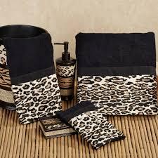 special leopard accessories for chic bathroom idea chic zebra print rug