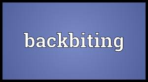 Image result for backbiting