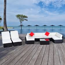 outdoor chair patio furniture wicker sectional outsunny  pcs outdoor rattan wicker sofa sectional patio furniture lou