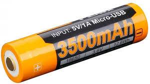 <b>Аккумулятор Fenix 18650</b> с разъемом для USB <b>ARB</b>-<b>L18</b>-<b>3500U</b> ...
