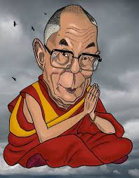 Resultado de imagen de dibujo dalai lama