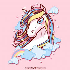 Free Vector | Background of <b>pretty unicorn</b> of colors