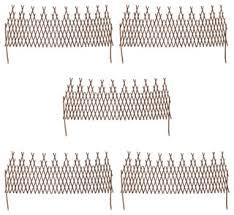 VidaXL Set of <b>5</b> Expandable <b>Willow Trellis Fences</b>, 170x55 cm ...