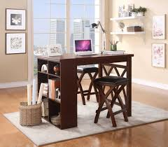 cherry counter height piece: homelegance mably  piece counter height set with shelves black vinyl brown cherry