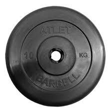<b>Диск обрезиненный</b> BARBELL <b>ATLET</b> 10 кг диаметр 26, 31, <b>51</b> мм