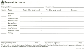 doc sample for leave application employee leave doc12401754 sample leave request form doc12401754 sample