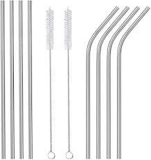 Ouway <b>Stainless Steel Straws</b> Reusable 8 Set, Metal Drinking ...