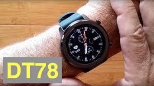 DTNo.1 <b>DT78</b> IP68 Waterproof Full Touch Blood Pressure Health ...
