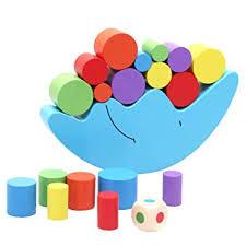 Lacool <b>Moon</b> Equilibrium <b>Game Wooden</b> Stacking Blocks <b>Balancing</b> ...