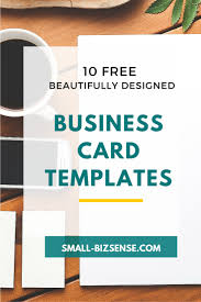 10 beautifully designed small business card templates business card templates