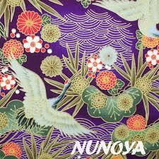 Japanese <b>floral</b> - <b>violet</b> - Nunoya