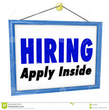 hiring window sign apply in employment interview job royalty hiring window sign apply in employment interview job