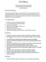 professional production assistant resume template sample adobe pdf pdf rich text rtf ms word