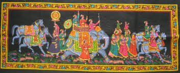 Small Picture Mughal King Indian Elephant Tapestry Sequin Wall Hanging Decor