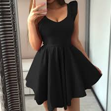 <b>2019 2019</b> Summer Cute Party Dress <b>Sweet V Neck</b> Mini A Line ...