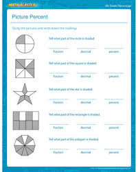 Picture Percent – Percentage Worksheet for 4th Grade Kids – Math ...Picture Percent. Percentages - Printable Math Worksheet
