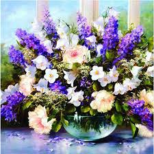 2019 <b>new arrived</b> Flowers <b>5D DIY</b> Diamond Pictures Embroidered ...
