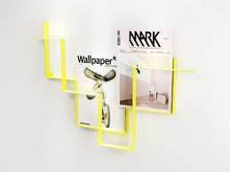 magazine rack wall mount: modern wall mounted magazine rack middot