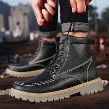 <b>SFIT</b> 2019 <b>New</b> Fashion Leather <b>Ankle</b> Boots Autumn Winter <b>Men'S</b> ...