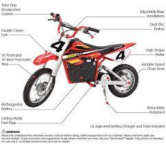 razor mx500 dirt rocket 500 watt 36v electric motocross bike