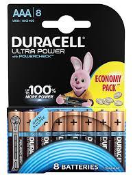 Щелочная <b>батарейка</b> Ultra <b>AAA</b>/LR03 8 шт <b>DURACELL</b> 6944108 в ...