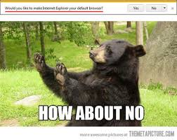 funny bear no please meme on imgfave via Relatably.com