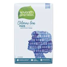 Seventh Generation® <b>Chlorine</b>-<b>Free Maxi</b> Pads, Regular, 24/Pack ...