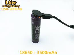 <b>USB 5000ML</b> Li ion Rechargebale <b>battery USB 18650</b> 3500mAh 3.7 ...