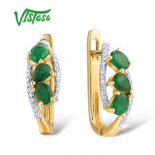 <b>VISTOSO Gold Earrings For</b> Women Pure 14K 585 Yellow Gold ...